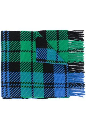 MACKINTOSH Fringed tartan scarf