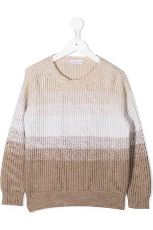 Brunello Cucinelli Colour-block cashmere jumper - Neutrals