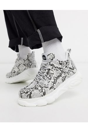 Buffalo Cloud chunky sole sneakers in snake print-Multi