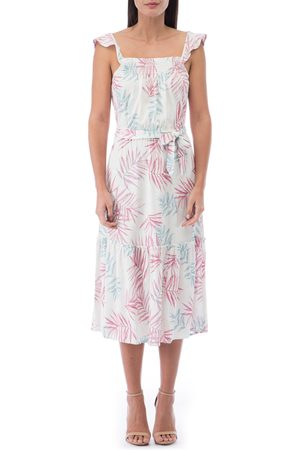 Bobeau Women's Palm Frond Sundress