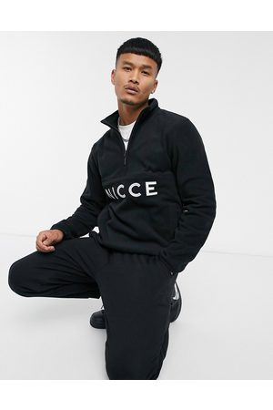 Nicce London Corto half zip fleece jacket in