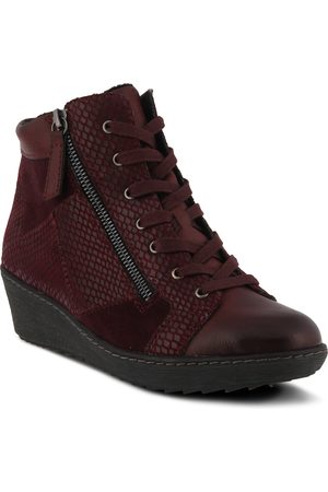 Spring Step Women's Lilou Faux Fur Lined Wedge Sneaker