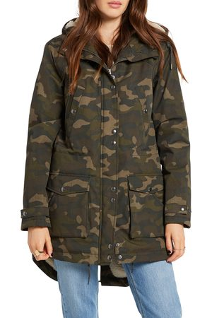 Volcom Women's Walk On By 5K Nuts Hooded Parka With Faux Shearling Lining