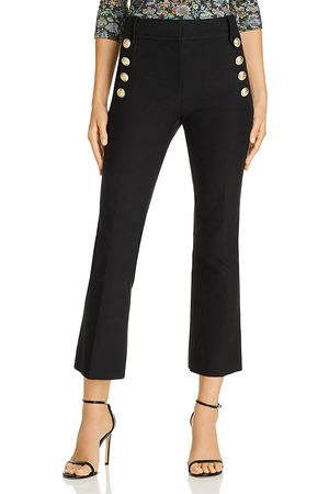 Derek Lam Robertson High Waisted Crop Flare Pants