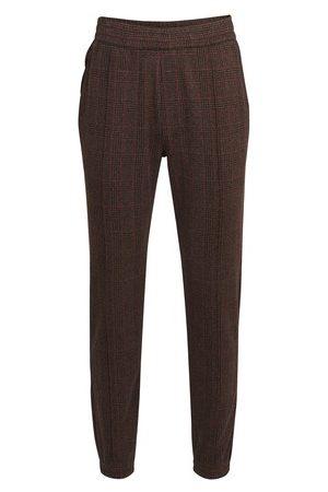 DRIES VAN NOTEN Men Sweatpants - Checked jersey pants