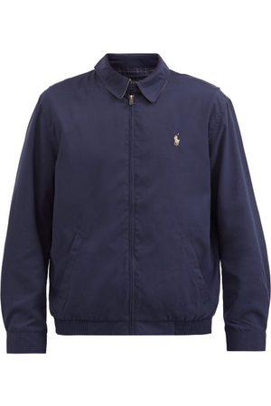 Polo Ralph Lauren Logo-embroidered Poplin Bomber Jacket - Mens - Navy
