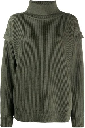 BARENA Layered detail roll neck jumper