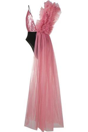 Alchemy Women Asymmetrical Dresses - Asymmetrical bodysuit dress