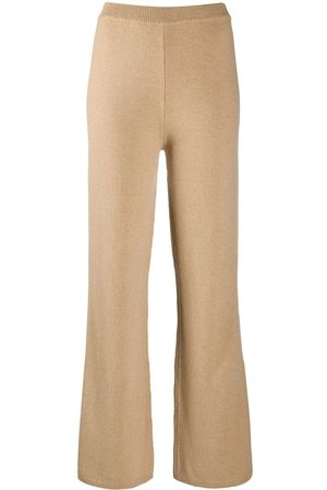 Joseph High-waisted flared knitted trousers - Neutrals