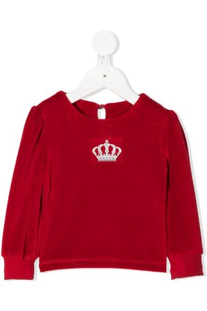 Lapin House Long Sleeve - Crown embroidered long-sleeve top