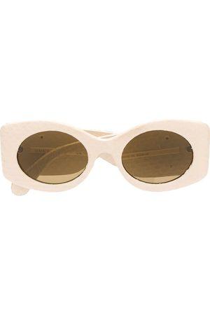 Gucci Logo plaque sunglasses - Neutrals