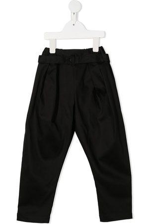 Anja Schwerbrock Kids Belted straight trousers