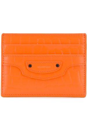 Balenciaga Neo Classic crocodile-effect leather cardholder