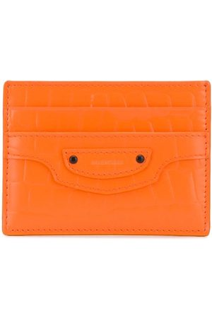 Balenciaga Women Purses - Neo Classic crocodile-effect leather cardholder