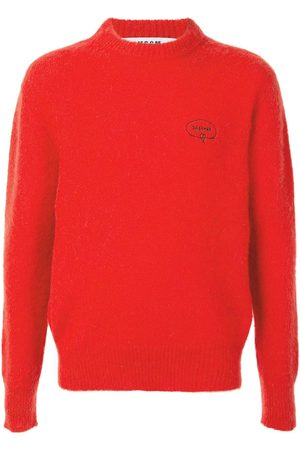 Msgm Brushed-effect crew neck jumper