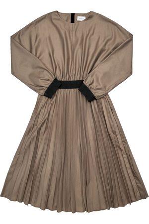 Unlabel Two Tone Dress W/ Pleated Skirt
