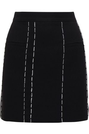 Rokh Tailored Mini Skirt W/contrast Stitching