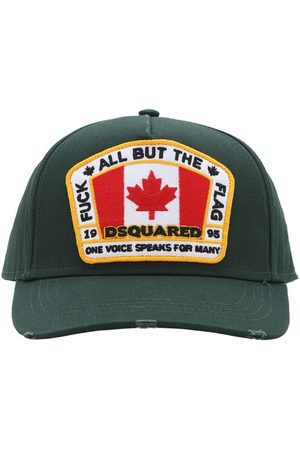 Dsquared2 Flag Patch Cotton Canvas Baseball Hat