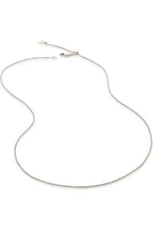 "Monica Vinader Fine Oval Box Chain -18"", Sterling Silver"