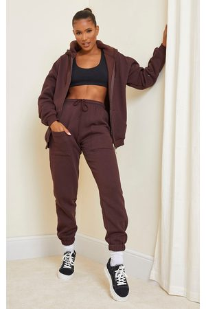 PRETTYLITTLETHING Women Sweatpants - Chocolate Pocket Thigh Casual Joggers