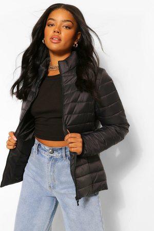Boohoo Womens Funnel Neck Puffer Jacket - - 4