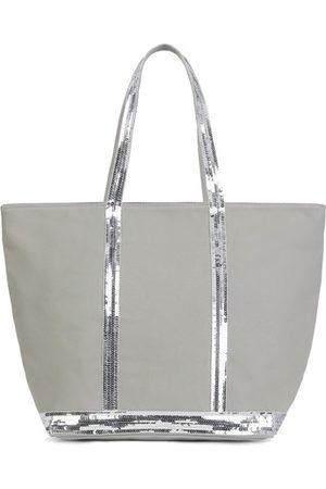 Vanessa Bruno Women Purses - Medium Canvas And Sequins Cabas Tote Bag With Zip