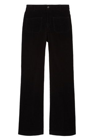 Vanessa Bruno Women Wide Leg Pants - Cotton Dompay Flare Trousers
