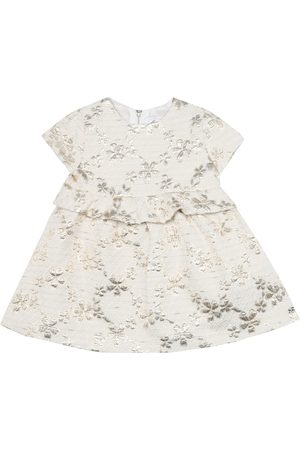 Tartine Et Chocolat Baby metallic floral cotton-blend dress