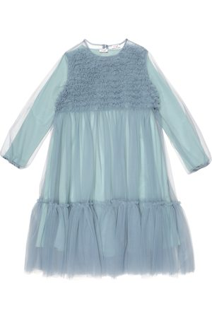 Il gufo Tulle and stretch-cotton jersey dress