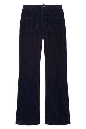 Vanessa Bruno Women Wide Leg Pants - Cotton Dompay Flare Trousers