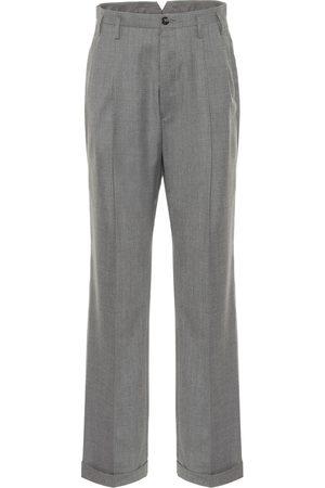 Maison Margiela Wide-leg wool-blend pants