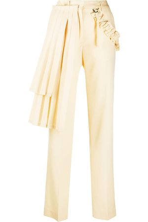 OFF-WHITE Pleated panel tailored trousers - Neutrals
