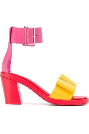 Comme des Garçons Colour-block leather sandals