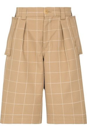 Jacquemus Quadri check Bermuda shorts - Neutrals