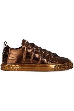 Giuseppe Zanotti Men Sneakers - Croco effect sneakers
