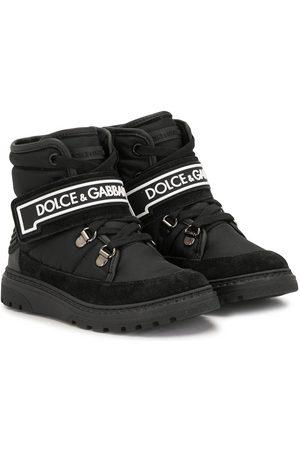 Dolce & Gabbana Logo-strap ankle boots