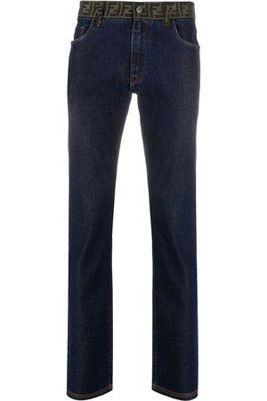 Fendi FF motif slim-fit jeans