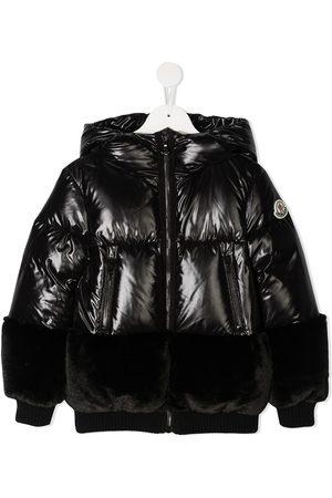 Moncler Faux fur-trimmed puffer jacket