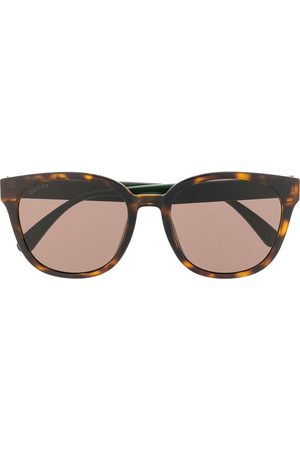 Gucci Web detail soft-square frame sunglasses