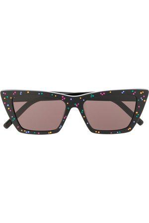 Saint Laurent New Wave rhinestone-embellished sunglasses
