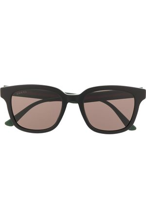 Gucci Web detail rectangular-frame sunglasses