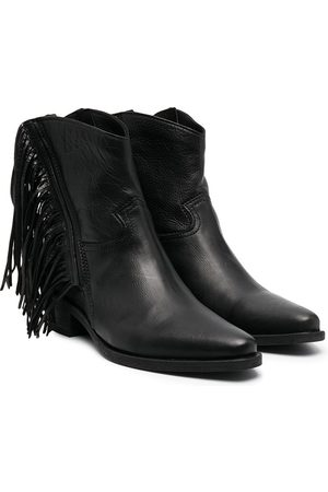 CINZIA ARAIA Fringed ankle boots