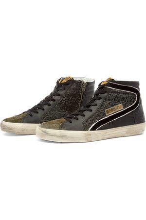 Golden Goose Slide Leather Suede Hi Top Sneaker