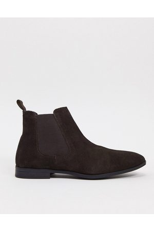 ASOS Chelsea boots in suede with black sole