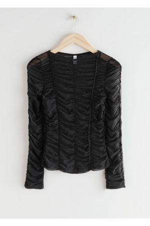& OTHER STORIES Ruched Long Sleeve Top