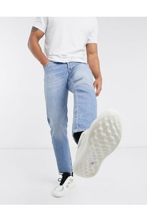 ASOS Stretch tapered jeans in vintage light wash