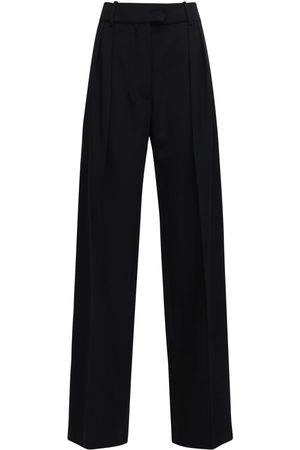 VALENTINO Granite Wool Wide Leg Pants W /pence