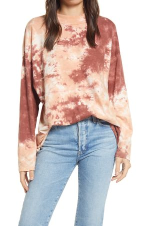 Free People Women's Be Free Tie Dye Oversize Long Sleeve T-Shirt