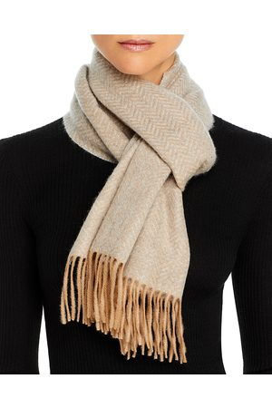 Bloomingdale's C by Bloomingdales Chevron Herringbone Cashmere Scarf - 100% Exclusive