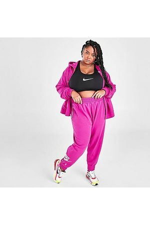 Nike Women's Air Cropped Fleece Jogger Pants (Plus Size) in Size 2X-Large Cotton/Fleece
